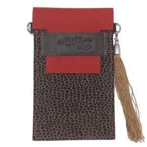 Cuelga-móvil Red & Animal Print