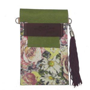 Cuelga-móvil Verde & Floral