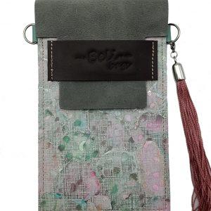 Cuelga-móvil Verde & Rosa
