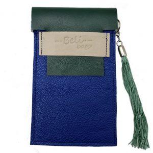 Cuelga-móvil Azul Eléctrico & Verde