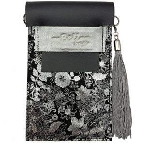 Cuelga-móvil Floral & Negro